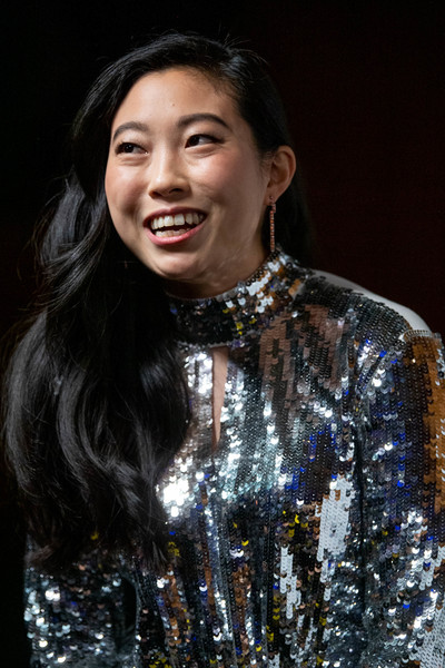 Awkwafina Side Sweep [8th annual reel stories,real lives,facial expression,lady,beauty,smile,fashion,portrait,fun,black hair,performance,photography,awkwafina,california,los angeles,mptf,directors guild of america,real lives event,event]