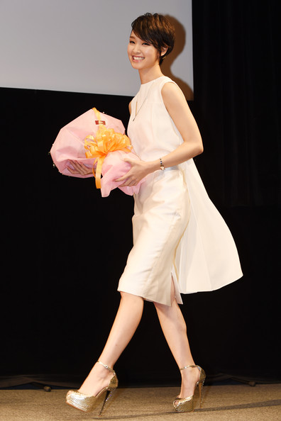 Ayame Goriki Cocktail Dress [love rosie premiere,white,clothing,dress,lady,fashion,leg,beauty,yellow,shoulder,performance,ayame goriki,tokyo,japan,premiere]