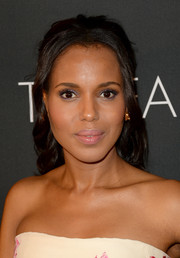 Kerry Washington pulled her hair back in a sweet half-up half-down 'do for the BAFTA LA TV Tea.