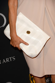 Shohreh Aghdashloo showed off a stylish white Fendi leather clutch at the BAFTA LA TV Tea.