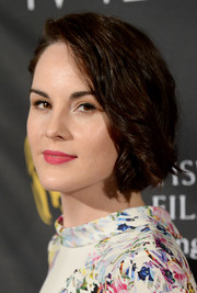 Michelle Dockery wore her short hair in spiral curls when she attended the BAFTA LA TV Tea.