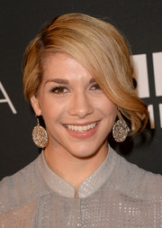 Allison Holker wore her hair in a dramatic loose updo at the BAFTA LA TV Tea.