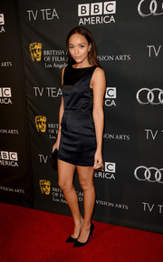 Ashley Madekwe went for minimalist elegance in a Dior LBD during the BAFTA LA TV Tea.