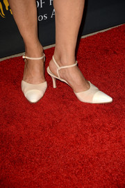 Shohreh Aghdashloo chose a conservative pair of nude and white cap-toe pumps for the BAFTA LA TV Tea.