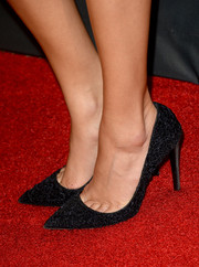 Ashley Madekwe attended the BAFTA LA TV Tea wearing a stylish pair of textured black pointy pumps.