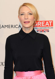 Cate Blanchett looked elegant with a side-swept hairstyle at the BAFTA Awards Season Tea.