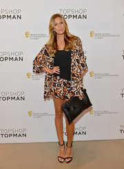 Renee Bargh rocked this floral short suit while attending a BAFTA event in LA.