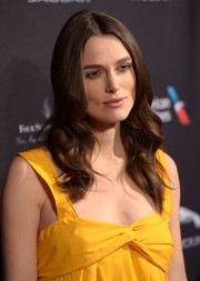 Keira Knightley wore her hair down in a gentle cascade of waves during the BAFTA Los Angeles tea party.