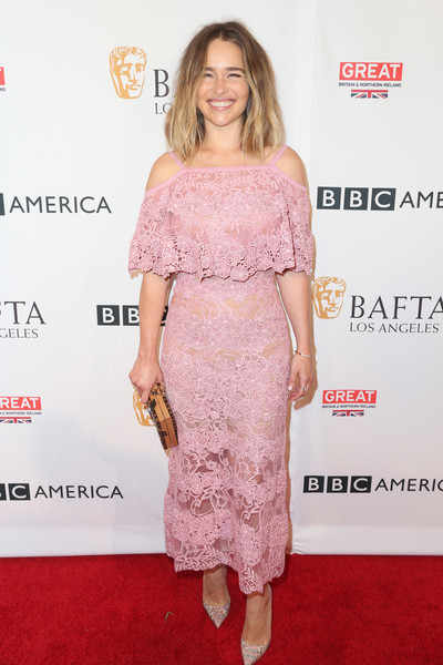 Emilia Clarke in Elie Saab at BBC America BAFTA Los Angeles TV Tea Party