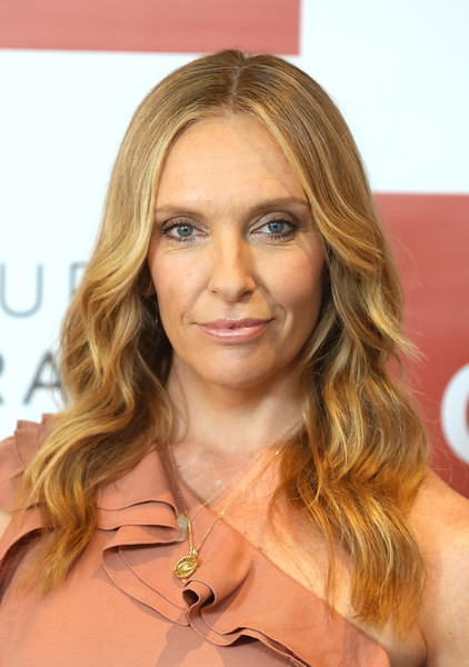 More Pics of Toni Collette Jumpsuit (1 of 15) - Toni Collette Lookbook - StyleBistro [wanderlust,hair,face,blond,hairstyle,eyebrow,layered hair,beauty,brown hair,chin,hair coloring,toni collette,photocall,england,london,covent garden hotel,bbc one,photocall]