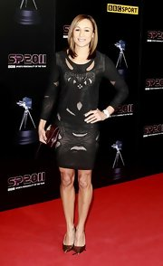 Jessica Ennis tried an edgy-chic look with this little black cutout dress at the 2011 BBC Sports Personality of the Year Awards.