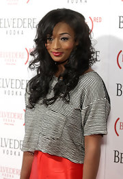 Toccara Jones wore her playful curls down at the launch party of Belvedere (RED).