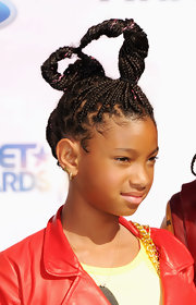 Willow Smith wowed with a gravity-defying braided updo.