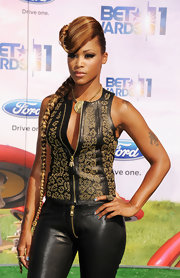 Eve looked wildly chic at the 2011 BET Awards in this all-leather studded tank and skinnies combo.