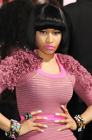 Nicki Minaj wore two confetti-colored bracelets with a matching ring at the 2011 BET Awards.