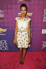 Kerry Washington was a beauty in this single-tiered beaded cocktail dress at BET's Black Girls Rock.