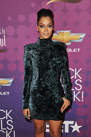 La La Anthony looked fierce in a teal velvet mini dress at the 2012 Black Girls Rock event.