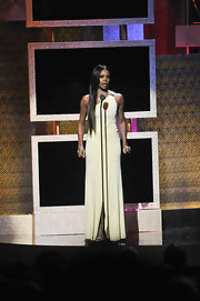 Gabrielle Union wore a soft yellow gown on stage at the BET Honors.