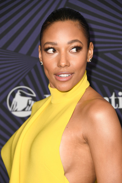 More Pics of Kylie Bunbury Cocktail Dress (6 of 10) - Dresses & Skirts Lookbook - StyleBistro [hair,hairstyle,eyebrow,beauty,yellow,muscle,lip,black hair,smile,long hair,bet presents the american black film festival honors - arrivals,beverly hills,california,kylie bunbury]