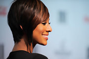 Keri wears an inverted bob with graduated back.