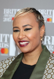 Emeli Sande wore a short, slicked-down 'do at the 2017 Brit Awards nominations party.