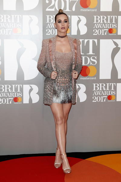 More Pics of Katy Perry Gemstone Studs (4 of 15) - Earring Studs Lookbook - StyleBistro [red carpet,carpet,premiere,fashion,flooring,fashion model,leg,event,dress,fashion design,red carpet arrivals,katy perry,brit awards,england,london,the o2 arena]