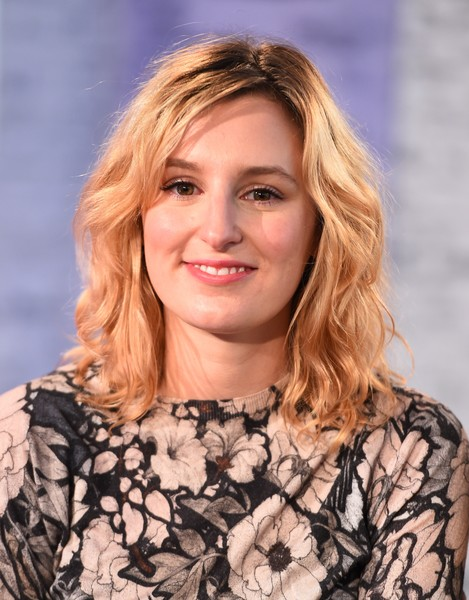 Laura Carmichael looked cute with her high-volume waves at the Build Series.