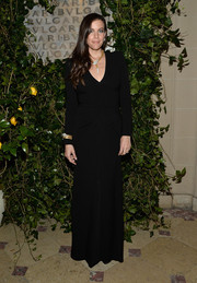 Liv Tyler opted for a simple, classic black evening dress when she attended the Bvlgari & Rome: Eternal Inspiration opening night.