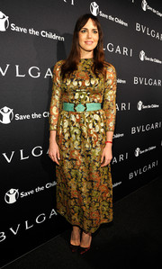 Marta Milans arrived at the BVLGARI And Save The Children Pre-Oscar Event in a great printed dress.