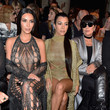 Kim, Kourtney and Kris Jenner at Balmain