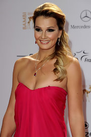 Franziska's golden tresses were worn in a wavy half-up style for the 2011 Bambi Awards in Germany.