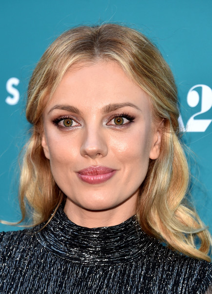Bar Paly Half Up Half Down [hair,face,blond,hairstyle,eyebrow,lip,chin,beauty,cheek,long hair,arrivals,bar paly,equals,model,arclight hollywood,california,a24,premiere,premiere]