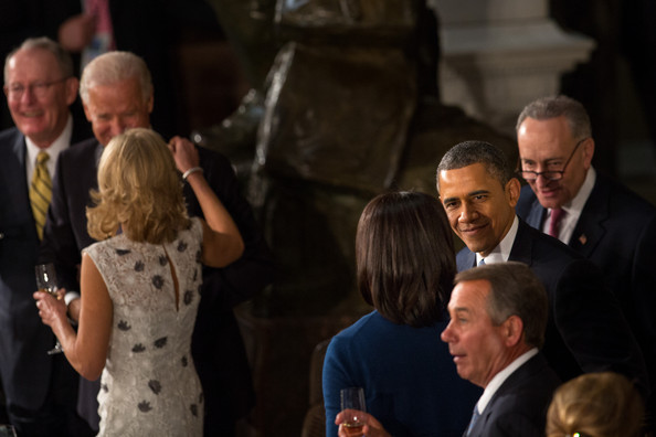 Barack Obama Attends The Inaugural Luncheon