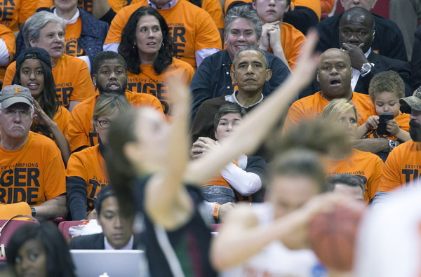 Obama Attends First Round of the Women's NCAA Tournament