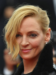 Uma Thurman worked a messy-glam updo at the Cannes Film Festival screening of 'Barbara.'