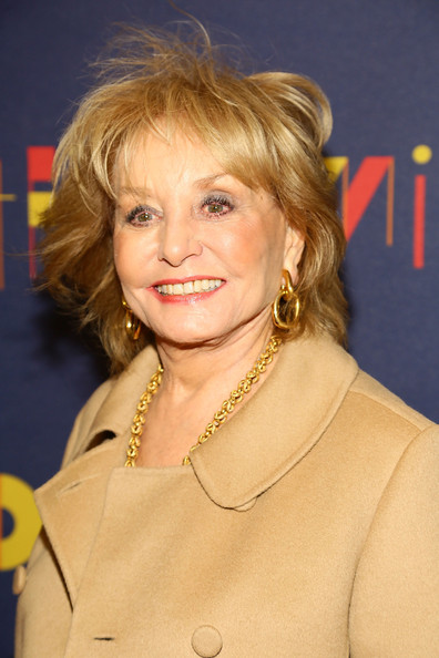 Barbara Walters Bob [hair,face,blond,hairstyle,chin,layered hair,feathered hair,bob cut,makeover,smile,opening night - arrivals,barbara walters,curtain call,broadway,new york city,brooks atkinson theatre,after midnight]
