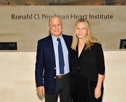 Barbra Streisand visited the Ronald O. Perelman Heart Institute wearing a cropped jacket layered over a draped LBD.