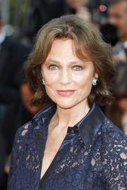 Jacqueline Bisset attended the Cannes Film Festival screening of 'Based on a True Story' wearing her hair in a short wavy style.
