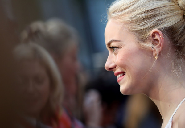 More Pics of Emma Stone Loose Bun (3 of 77) - Emma Stone Lookbook - StyleBistro