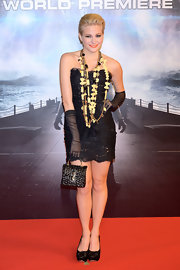 Pixie Lott made this LBD her own in this lacy strapless number at the 'Battleship' premiere.