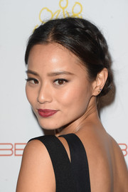 Jamie Chung charmed with this milkmaid braid at the 'Beauty Book for Brain Cancer' edition 2 launch party.