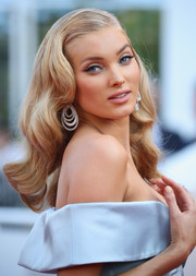Elsa Hosk looked supremely glam with her Old Hollywood waves at the Cannes Film Festival screening of 'The Beguiled.'