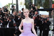 Elle Fanning Strapless Dress