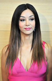 Verona Pooth topped off her look with a straight center-parted 'do at the Beliebteste press reception.