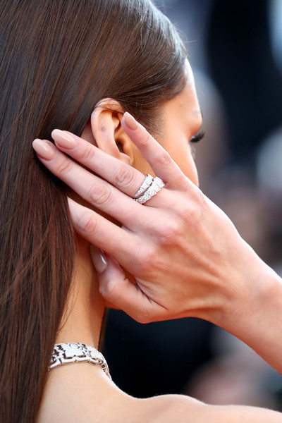 Bella Hadid Diamond Ring [ash is the purest white,hair,face,skin,ear,hand,finger,beauty,nail,hairstyle,ring,bella hadid,screening,jewelry detail,cannes,france,red carpet arrivals,jiang hu er nv,cannes film festival,palais des festivals]