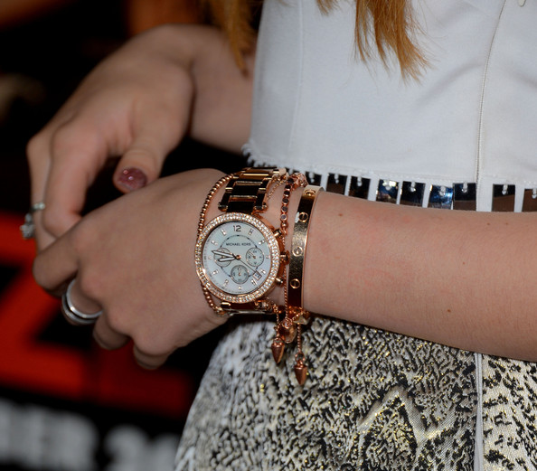 Bella Thorne Gold Chronograph Watch