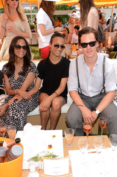 Benedict Cumberbatch Wayfarer Sunglasses [eyewear,yellow,fashion,sunglasses,event,glasses,recreation,taste,vision care,drink,jersey city,veuve clicquot polo classic,vip marquee,marquee,cisely saldana,zoe saldana,benedict cumberbatch]