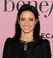 Shoshanna Gruss attended the premiere of Benefit Cosmetics' 'Glamouriety' wearing her shiny hair sleek and straight.