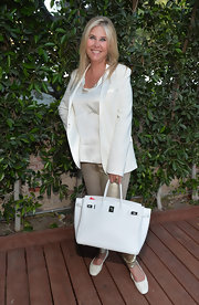 Irena Medavoy went to Benjamin Millepied's Dance Project benefit gala carrying a white Birkin.