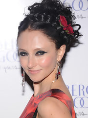 Stacey wore her hair in this messy braided updo at the Bergdorf Goodman anniversary celebration.